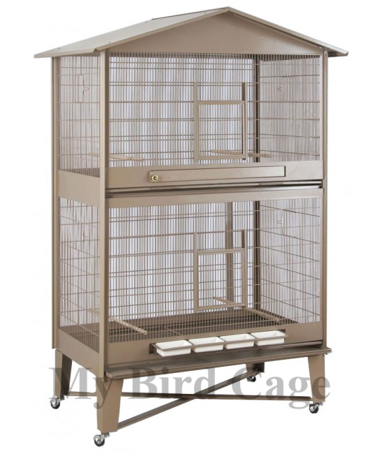 HQ Large Bird Aviary with Horizontal Divider 40x24