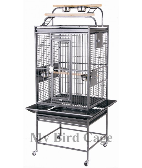 HQ Medium Double Play Top Parrot Cage 24x22